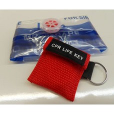 CPR Faceshield with One-Way Valve - Keychain/Pouch