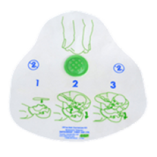Disposable resuscitation mask with valve and filter