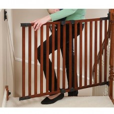 Angle Mount Safeway Wood Gate - Cherry