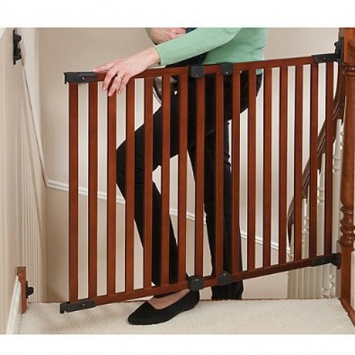 Angle Mount Wood Cherry Gate Top Of Stairs Versatile