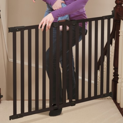 Angle Mount Wood Espresso Gate Top Of Stairs Versatile