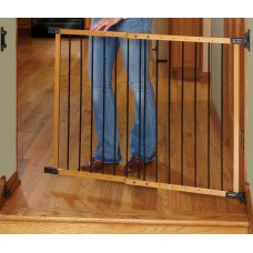 Designer Angle Mount Safeway Wood and Metal Gate - Oak & Black