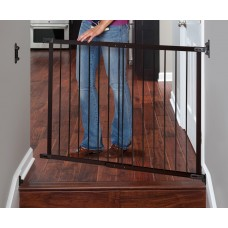 Designer Angle Mount Safeway Wood and Metal Gate - Espresso & Black