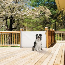Retractable Indoor/Outdoor Security Gate - White