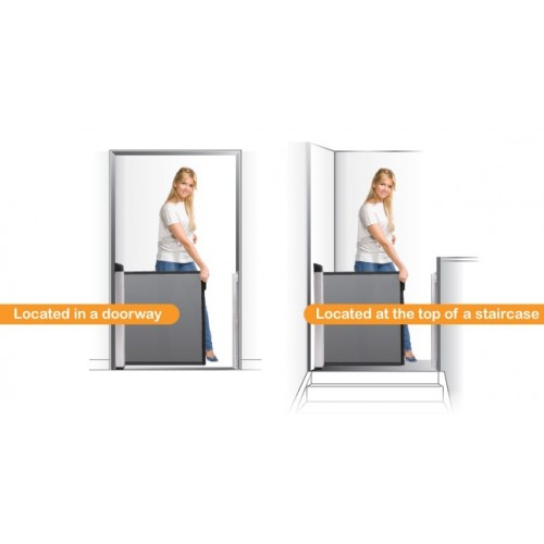 Lascal KiddyGuard Accent Gate - White | Retractable ...