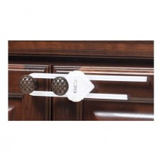 Sliding Cabinet Latch – White