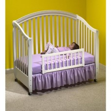 Convertible Crib Bed Rail - White