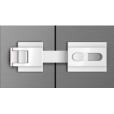 The Guardian Refrigerator Lock - White